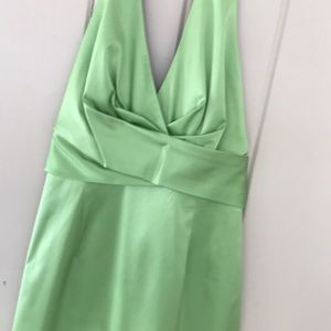 Donna Ricco Green Halter Dress
